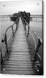 Bodensee Walkway B And W Acrylic Print