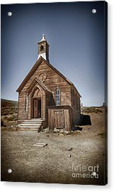 Acrylic Print featuring the photograph Bodie Church by Jim  Hatch