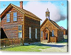 Bodie Church Stylized Eastern Sierra Photo Acrylic Print