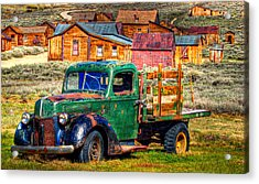 Bodie Ghost Town Green Truck Acrylic Print