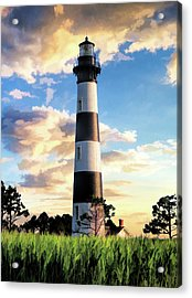 Acrylic Print featuring the painting Bodie Island Lighthouse by Christopher Arndt