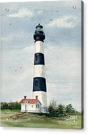 Acrylic Print featuring the painting Bodie Island Lighthouse by Nancy Patterson