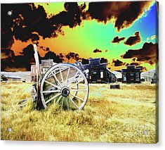 Acrylic Print featuring the photograph Bodie Wagon by Jim and Emily Bush