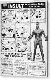Body-building Ad, 1962 Acrylic Print
