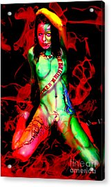 Body Paint 4 Acrylic Print by Tbone Oliver