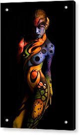 Body Paint X Acrylic Print by Tbone Oliver