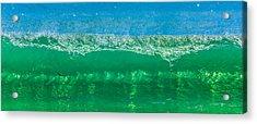 Body Surfing Acrylic Print by Paula Porterfield-Izzo