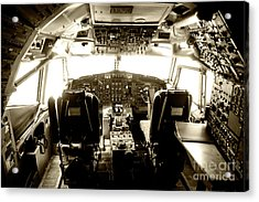 Acrylic Print featuring the photograph Boeing 747 Cockpit 21 by Micah May