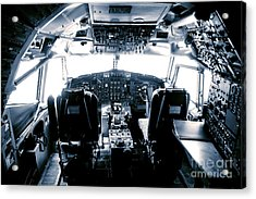 Acrylic Print featuring the photograph Boeing 747 Cockpit 22 by Micah May