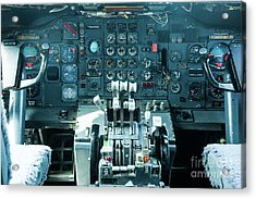 Acrylic Print featuring the photograph Boeing 747 Cockpit 23 by Micah May