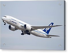 Boeing 787-8 N787za Mesa Gateway Airport November 11 2011 Acrylic Print by Brian Lockett