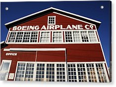 Boeing Airplane Hanger Number One Acrylic Print by David Lee Thompson