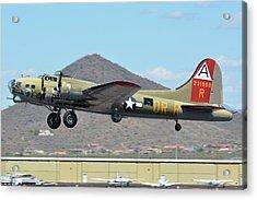 Acrylic Print featuring the photograph Boeing B-17g Flying Fortress N93012 Nine-o-nine Deer Valley Arizona April 13 2016 by Brian Lockett