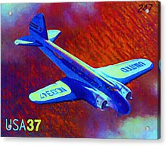 Boeing Model 247 Acrylic Print by Lanjee Chee