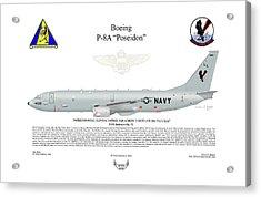Boeing P-8a Poseidon Acrylic Print by Arthur Eggers