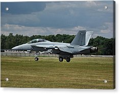 Acrylic Print featuring the photograph Boeing Super Hornet  by Tim Beach