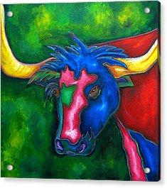 Boerne Longhorn Acrylic Print by Patti Schermerhorn