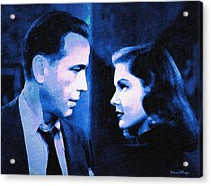 Bogart And Bacall - The Big Sleep Acrylic Print