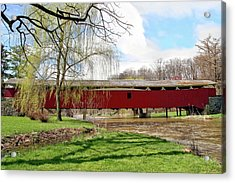 Bogert Covered Bridge Acrylic Print