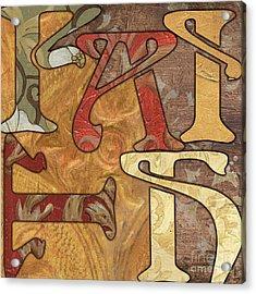 Bohemian Faith Acrylic Print