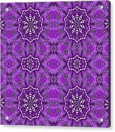 Bohemian Purple Vintages Peace Acrylic Print