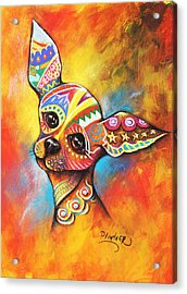 Acrylic Print featuring the drawing Chihuahua by Patricia Lintner