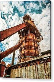 Boiler At Sloss Furnaces Acrylic Print by Phillip Burrow
