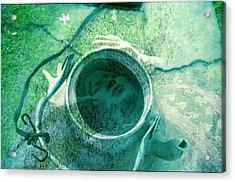 Boiling Through The Cracks Acrylic Print by Ash Soomro-Irani