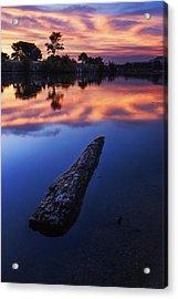 Boise River Sunset Serenity Acrylic Print by Vishwanath Bhat