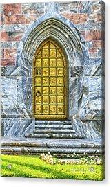 Acrylic Print featuring the photograph Bok Tower Door by Deborah Benoit