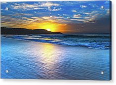 Bold And Blue Sunrise Seascape Acrylic Print