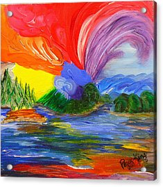 Bold New Day - Or A Trip Around My Palette Acrylic Print