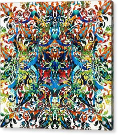 Bold Pattern Art - Color Fusion Design 8 By Sharon Cummings Acrylic Print by Sharon Cummings