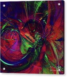 Acrylic Print featuring the digital art Bold Red by Deborah Benoit