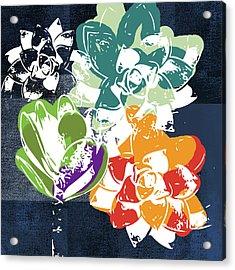 Bold Succulents 1- Art By Linda Woods Acrylic Print
