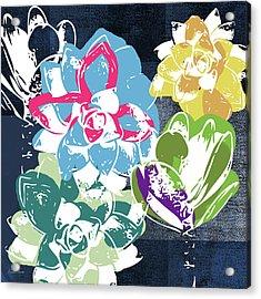 Bold Succulents 2- Art By Linda Woods Acrylic Print