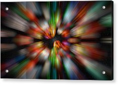 Acrylic Print featuring the photograph Bolders In Space by Cherie Duran