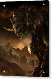 Bolg The Goblin King Acrylic Print by Curtiss Shaffer