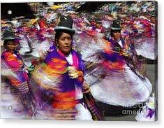 Bolivian Festival Action Acrylic Print