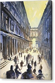 Acrylic Print featuring the painting Bologna Sunset- Italy by Ryan Fox