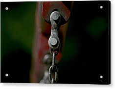 Acrylic Print featuring the photograph Bolts by Cathy Harper
