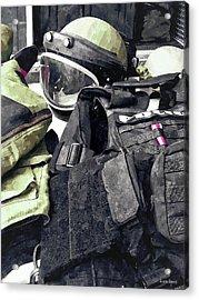 Bomb Squad Uniform Acrylic Print