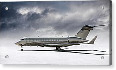 Acrylic Print featuring the digital art Bombardier Global 5000 by Douglas Pittman