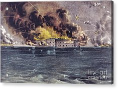 Bombardment Of Fort Sumter, Charleston Harbor, Signaled The Start Of The American Civil War Acrylic Print