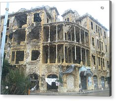 Bombed Out Acrylic Print by Yvonne Ayoub