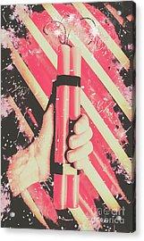 Bomber Man Hand Acrylic Print by Jorgo Photography - Wall Art Gallery
