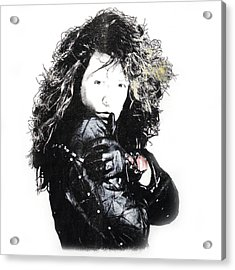 Acrylic Print featuring the digital art Bon Jovi by Gina Dsgn