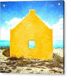 Bonaire Slave Hut Acrylic Print