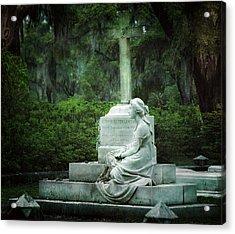 Bonaventure Cemetery Statue Acrylic Print