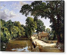 Bonchurch Isle Of Wight Acrylic Print by Jasper Francis Cropsey